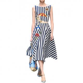 Dolce & Gabbana seaside-appliqu� A-line dress