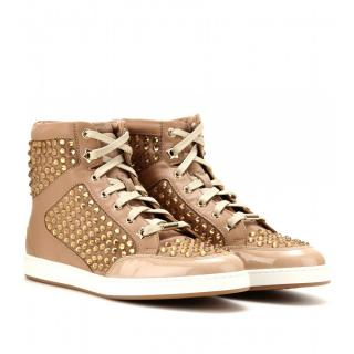Jimmy Choo Tokyo Crystal-Embellished High-Top Trainers