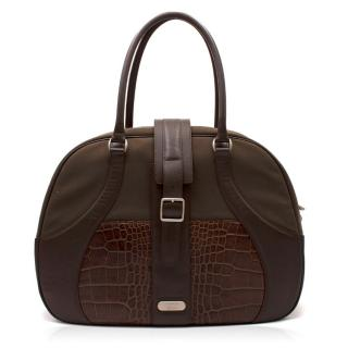 Samsonite Black Label x Alexander McQueen Brown Travel Bag e3e1c297bdbb4