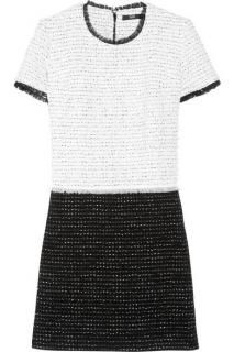Markus Lupfer Claudia two-tone tweed mini dress