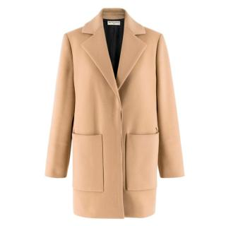 Balenciaga Camel-Brown Wool-Blend Coat