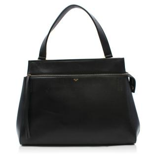 Celine Edge Black Leather Medium Bag