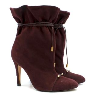 Zimmermann Burgundy Cord Wrap Booties