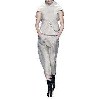 Rick Owens Pearly 'Bleach' Silk-Twill Draped Jacket