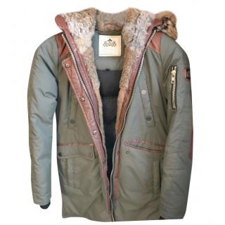 Nicole Benisti fur-trimmed parka coat