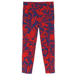 Max & Co Floral-Print Cropped Tapered Trousers