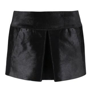 Isabel Marant Black Calf Leather Mini-Skirt