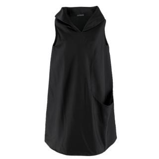 Alexander McQueen Sleeveless Black Satin Dress