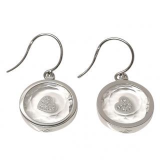 Rock Crystal & Diamond 18ct Gold Earrings
