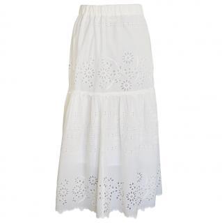 Sea New York off-white cotton long maxi skirt