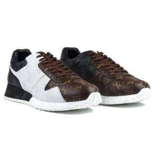 Louis Vuitton contrast-panel low-top trainers