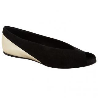 See by Chloe Khali Ballerina black & gold flat shoes Unworn.