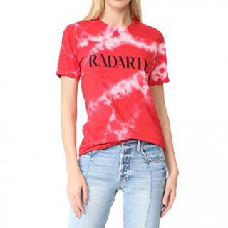 Rodarte Radarte-print red tie-dye T-shirt