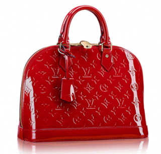 Louis Vuitton Alma Patent Leather Red Bag