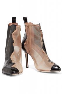 Maison Margiela bi-colour mesh & leather ankle boots