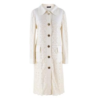 Dolce & Gabbana Crochet-Lace Cotton and Linen-blend Jacket