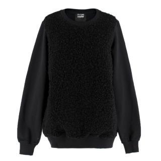 Markus Lupfer Black Loop-Knit Wool-blend Sweater