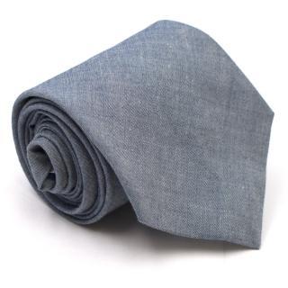 Club Monaco Blue Cotton Tie