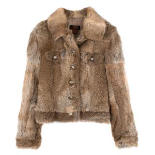 Danier Rabbit Fur Jacket