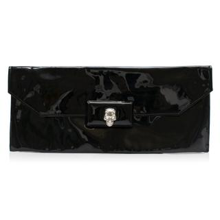Alexander McQueen Patent Leather Skull Clutch Bag