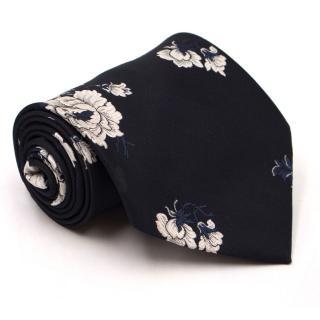 Cravateur Floral-Print Silk Tie