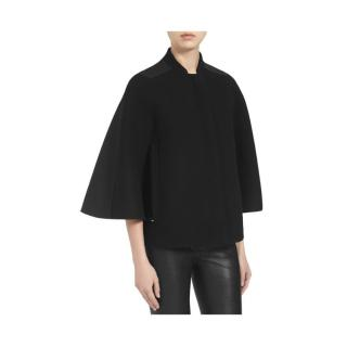 Mulberry Black Wool Cape