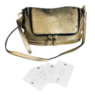 Anya Hindmarch Gold Leather Shoulder Bag