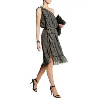 Isabel Marant Aiden One-Shoulder Silk-Crepe Dress