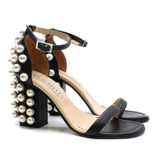Emilio Pucci faux pearl-embellished leather sandals
