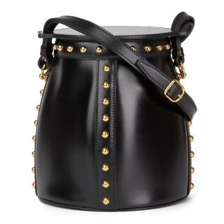 Hermes Black Box Calf Leather Cloute Farming Bucket Bag