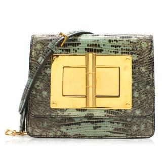 Tom Ford Natalia Small Lizard Cross-Body Bag