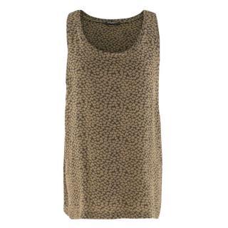 Balmain Heart-print silk tank top