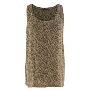 Balmain Heart-print silk tank top