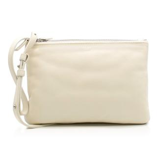 Celine Trio Ivory Leather Cross-Body Bag