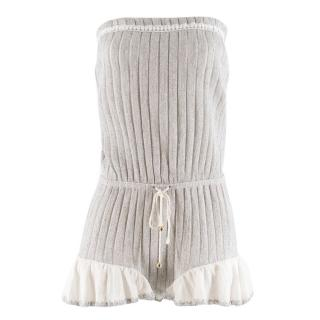 Chio Di Stefania D Metalic Knit Playsuit Cover-up