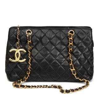 Chanel Black Quilted-Leather XL Shoulder Bag