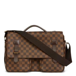 Louis Vuitton Brown Damier Ebene Coated Canvas Broadway Bag