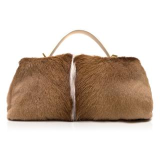 Salvatore Ferragamo Fur Bowling Bag