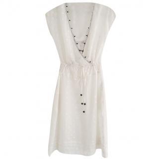 See By Chloe cream silk & cotton dress