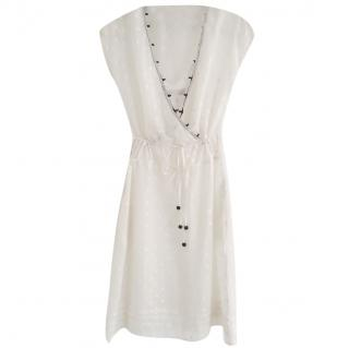 See By Chloe cream silk & cotton dress