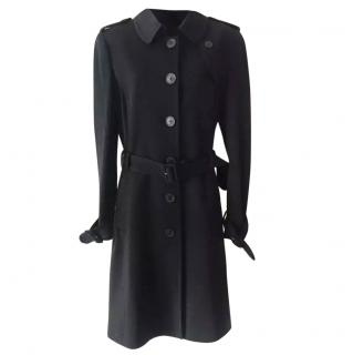 Joseph black belted trench coat