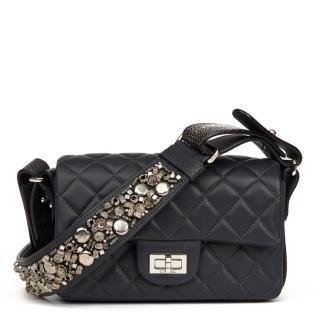 Chanel Navy Leather & Galuchat Stingray 2.55 Reissue Bag