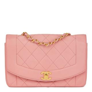 Chanel Diana Small Pink Quilted-Leather Classic Single Flap Bag