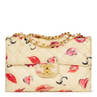 Chanel Quilted PVC 'Lips & Kisses' Maxi Jumbo XL Bag