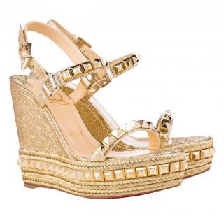 Christian Louboutin Cataclou Wedge Sandals