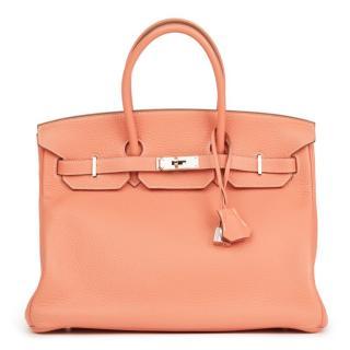 Hermes Togo Leather Birkin 35cm Bag