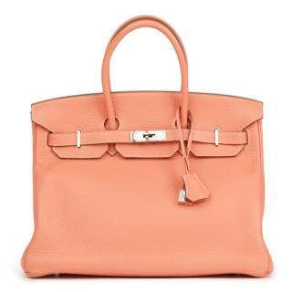 Hermes Togo Leather Birkin 35cm Bag