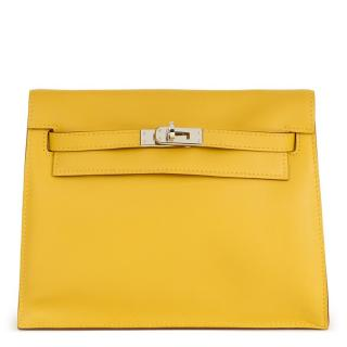 Hermes Swift Kelly Yellow Leather Bag