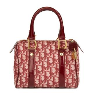 Christian Dior Red Monogram Canvas 20cm Boston Bag