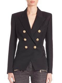 Balmain Double-Breasted Wool Jacket